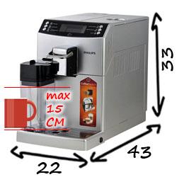 Размеры кофемашины Philips EP4050 Series 4000