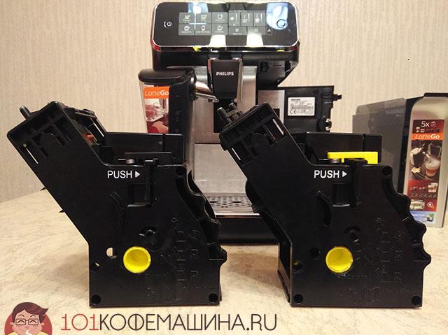 Заварочный узел (ЗУ) новых Филипсов в сравнении с ЗУ от Saeco SM5570.