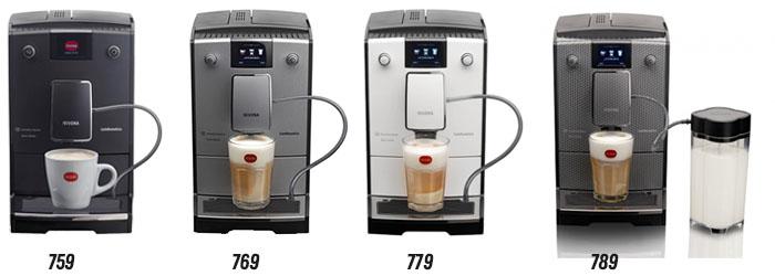Модельный и цветовой ряд кофемашин Нивона 7 серии: Nivona 7x9