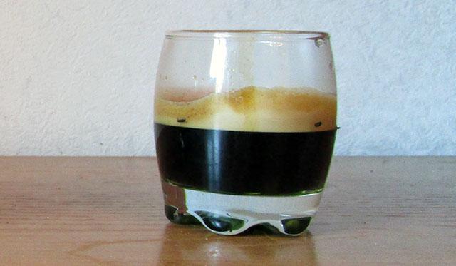 Пример кофейной пенки на Китфорте