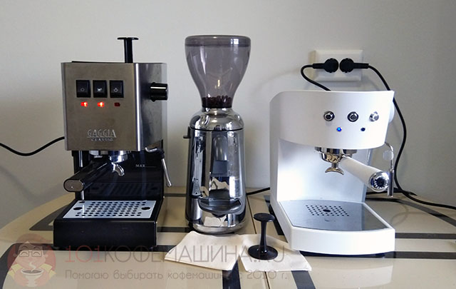 Кофеварки Gaggia Classic RI9480/11 и Ascaso Basic White