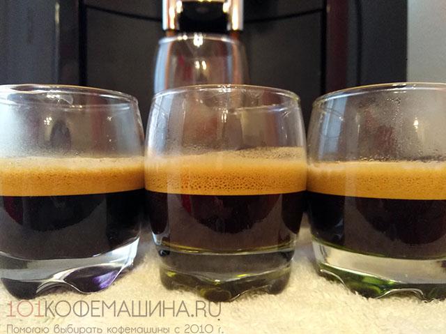 Эспрессо на кфемашине Jura D4