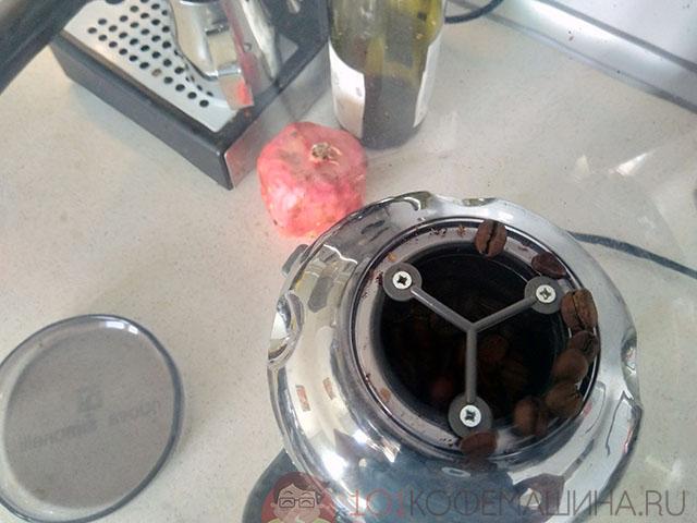 Бункер для зерен кофемолки Нуова Симонелли Гринта Хром