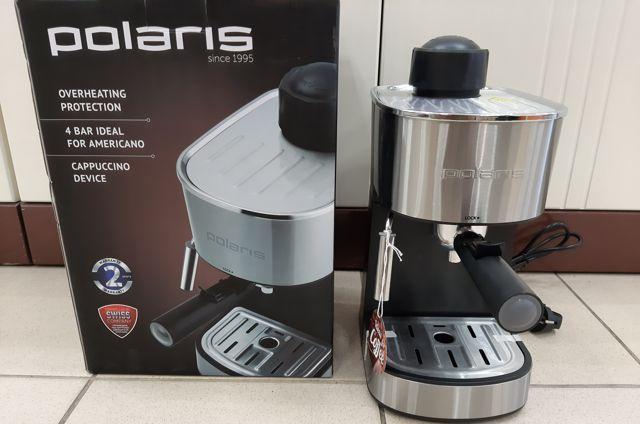 Рожковая бойлерная кофеварка без помпы Polaris PCM 4011 DV