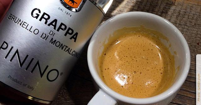 Кафе коретто с граппой.