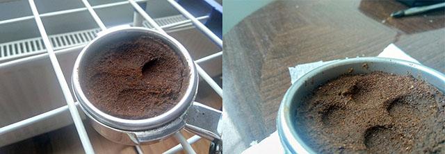 Дефект дистрибуции (распределения) кофе при готовке эспрессо на рожковой кофеварке