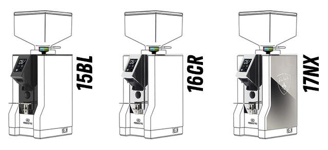 Кофемолка Eureka Mignon: отличия компектаций 15BL, 16CR, 17NX