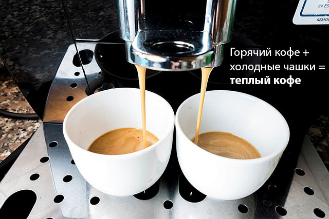 Холодные чашки серьезно влиябт на температура напитка