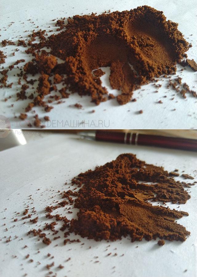 Самый мелкий, минимальный помол на кофемолке Wilfa Uniform (для турки)