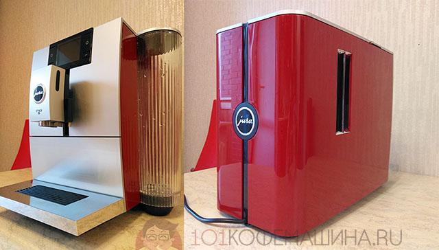 Красная компактная кофемашина с капучинатором Jura ENA 8 Sunset Red 15255