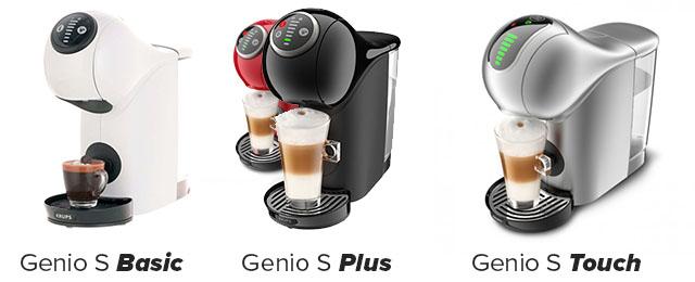 Отличия моделей капсульных кофеварок Dolce Gusto Krups Genio S: Basic, Plus и Touch.
