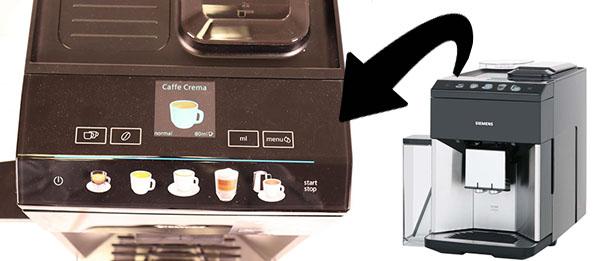 Панель управления коффемашин линейки Siemens EQ.500: TP501R09, TQ505R09, TQ507R02 и пр.