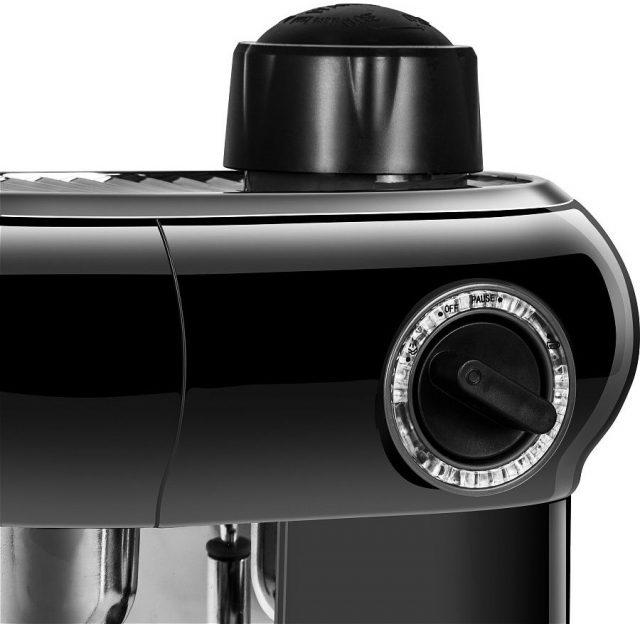 Заливная горловина для воды и крутилка с выбором режима работы кофеварки Редмонд RCM-1521