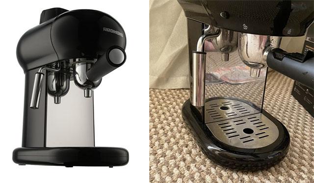 Капучинатор и лоток для капель у кофеварки Redmond RCM-1521