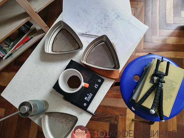 Делаю сравнительные тесты кофемолок 1Zpresso Q1 и Timemore Chestnut X с помощью сит Kruve Sifter