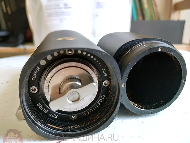Двойной диск регулировки помола на кофемолке Timemore Chestnut X
