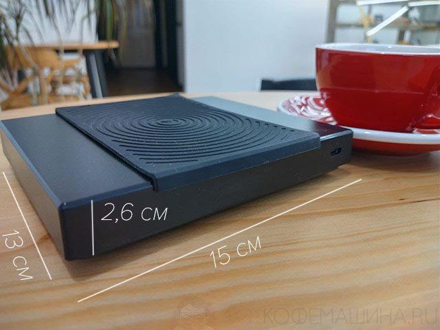Габариты (длины, ширины, высота) кофейных весов Timemore Black MIrror B22