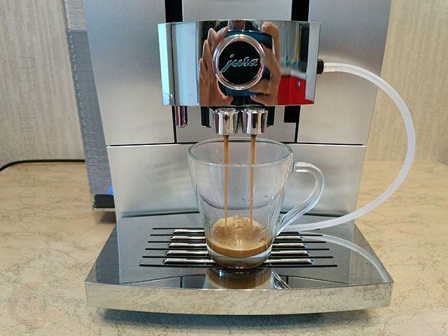 Приготовление порции эспрессо на кофемашину Jura Z10 с прерывистым режимом работы помпы (PEP)